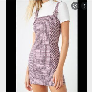 Forever 21 Tweed Pinafore Dress with buckle straps